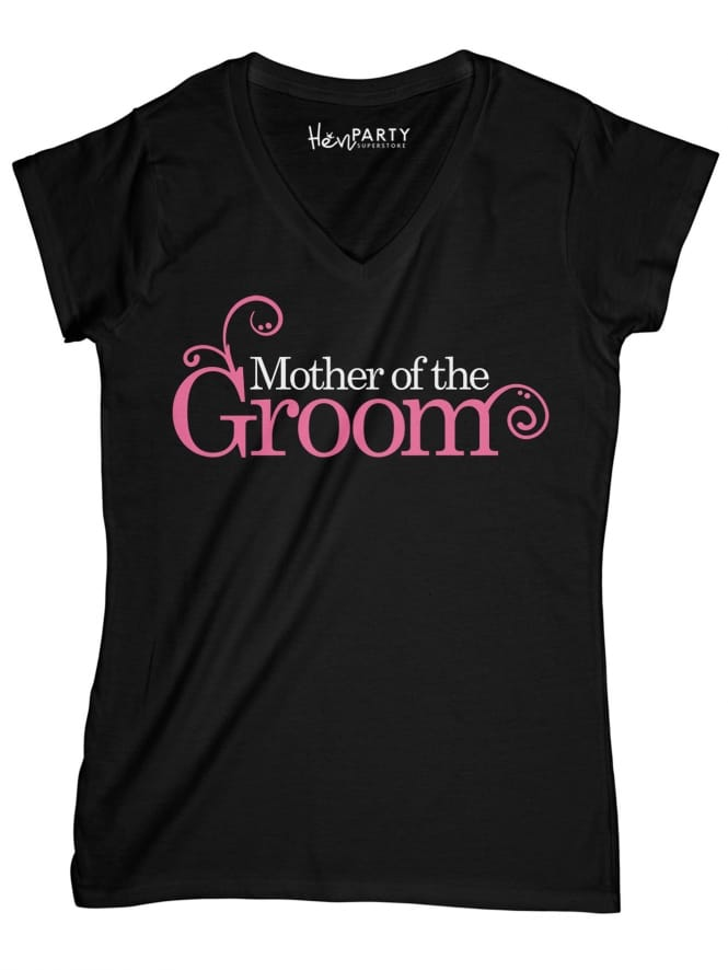 Hen Party Superstore Swirly Style 'Mother of the Groom' Hen Party T-Shirts