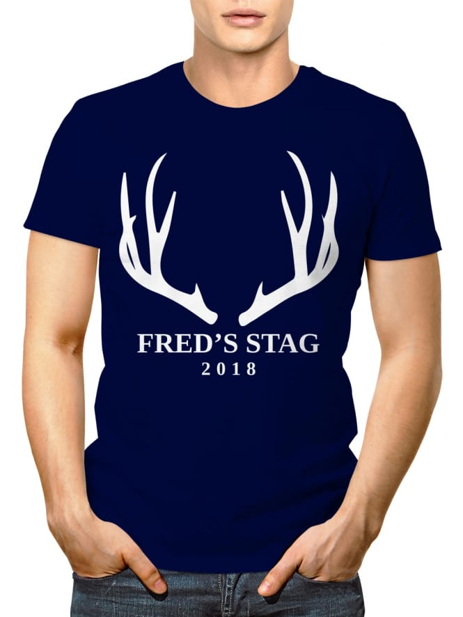 Antlers Personalised Stag Party T-Shirt