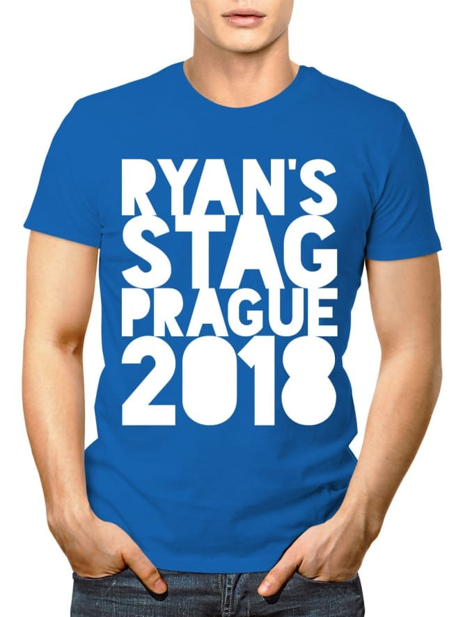 Cutout Personalised Stag Party T-Shirt