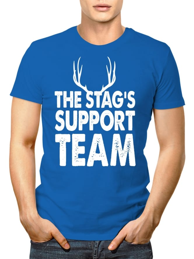 Stag Support Team Personalised Party T-Shirt