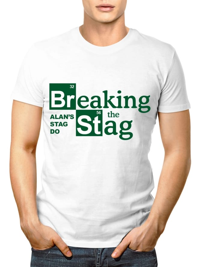 Breaking Stag Personalised Party T-Shirt