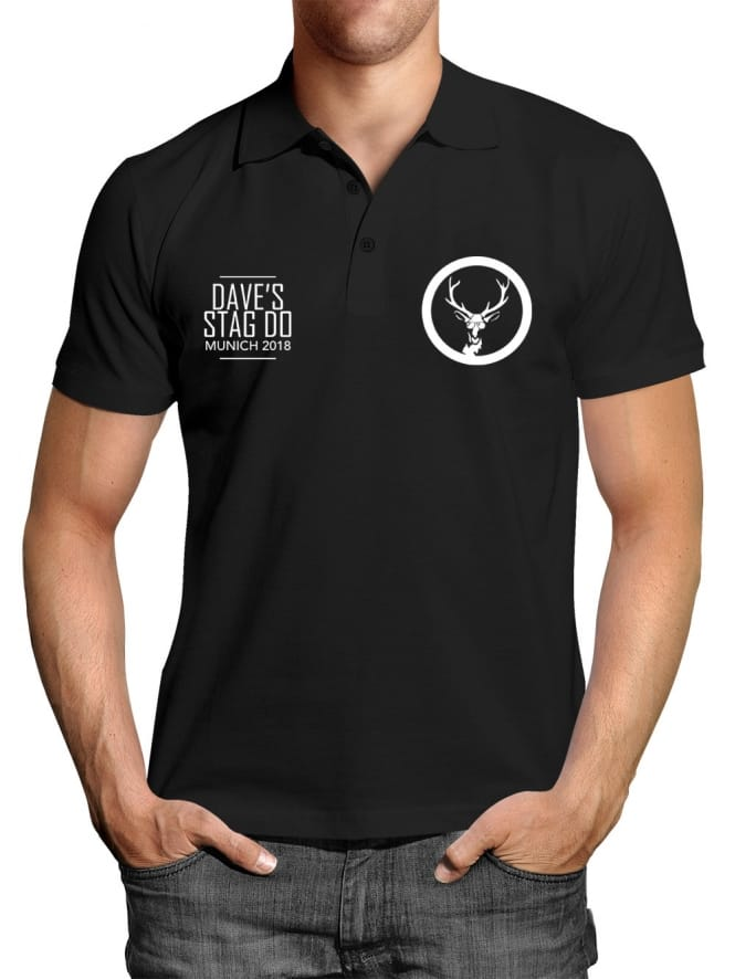 Pocket Personalised Stag Party Polo Shirt