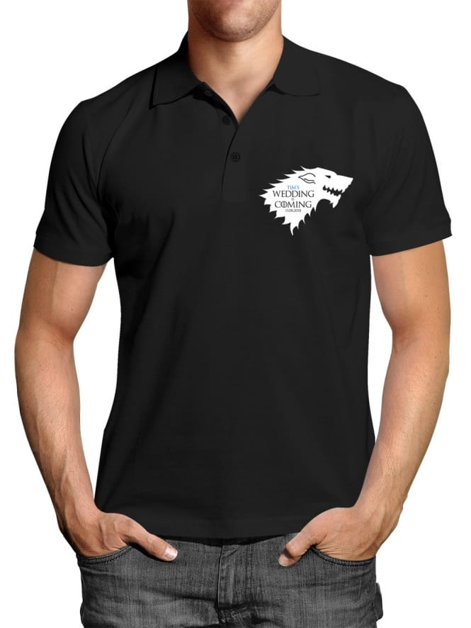The Wedding Is Coming Stag Party Personalised Polo Shirt