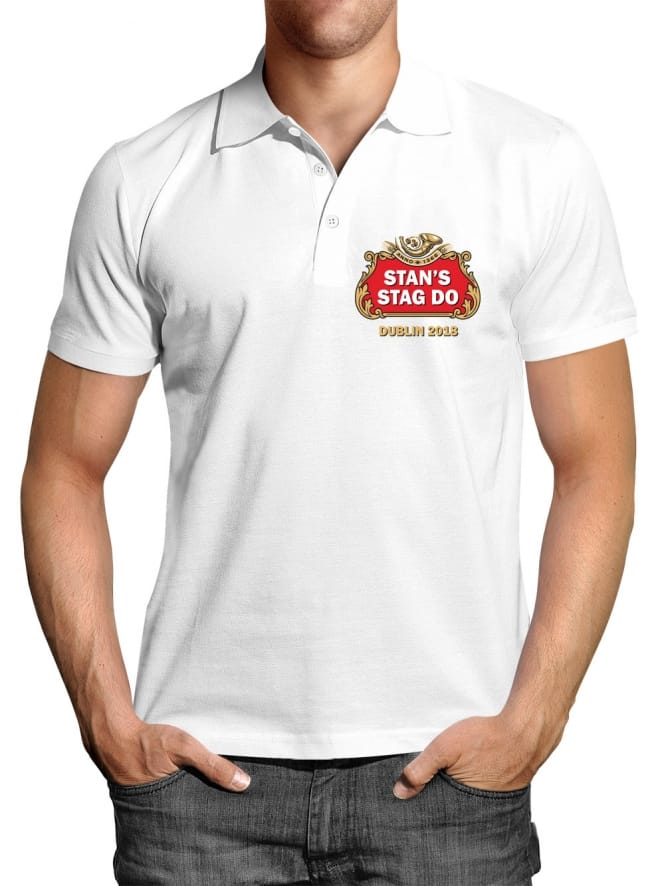 Beer Personalised Stag Party Polo Shirt
