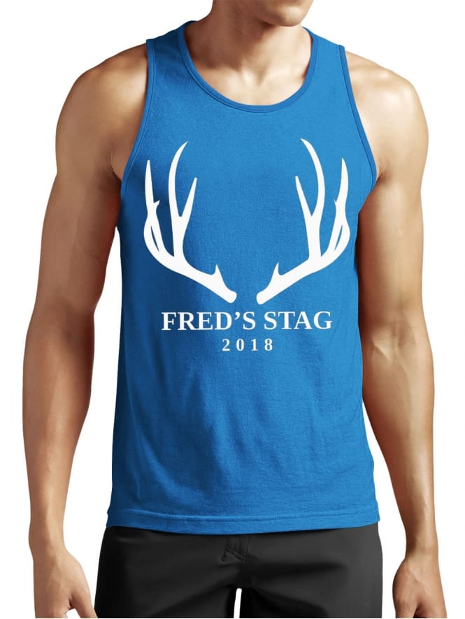 Antlers Personalised Stag Party Vest Top