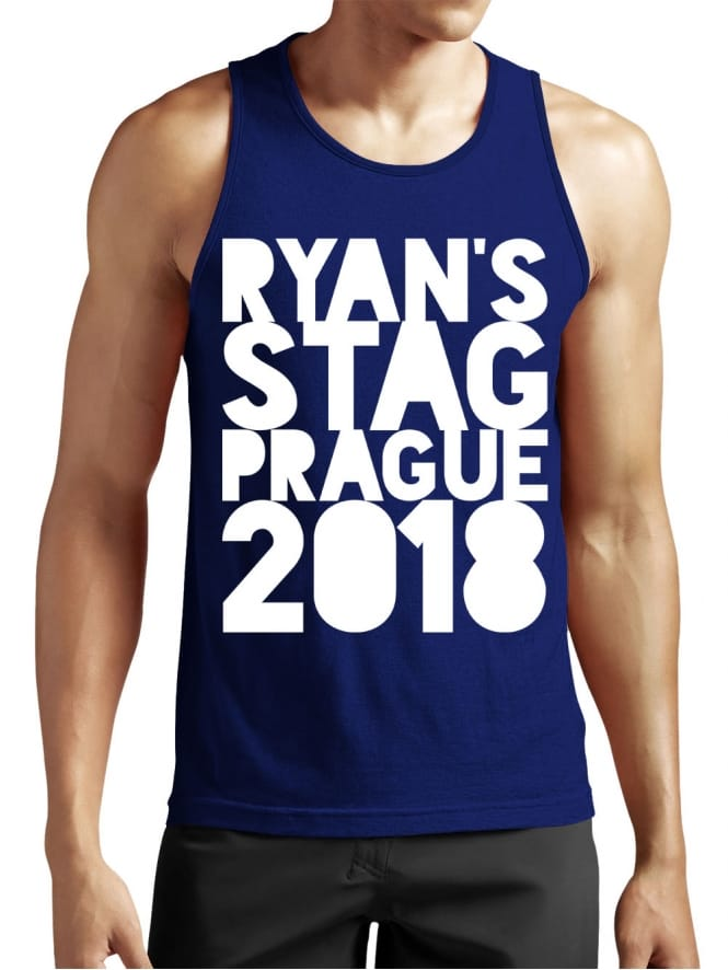 Cutout Personalised Stag Party Vest Top