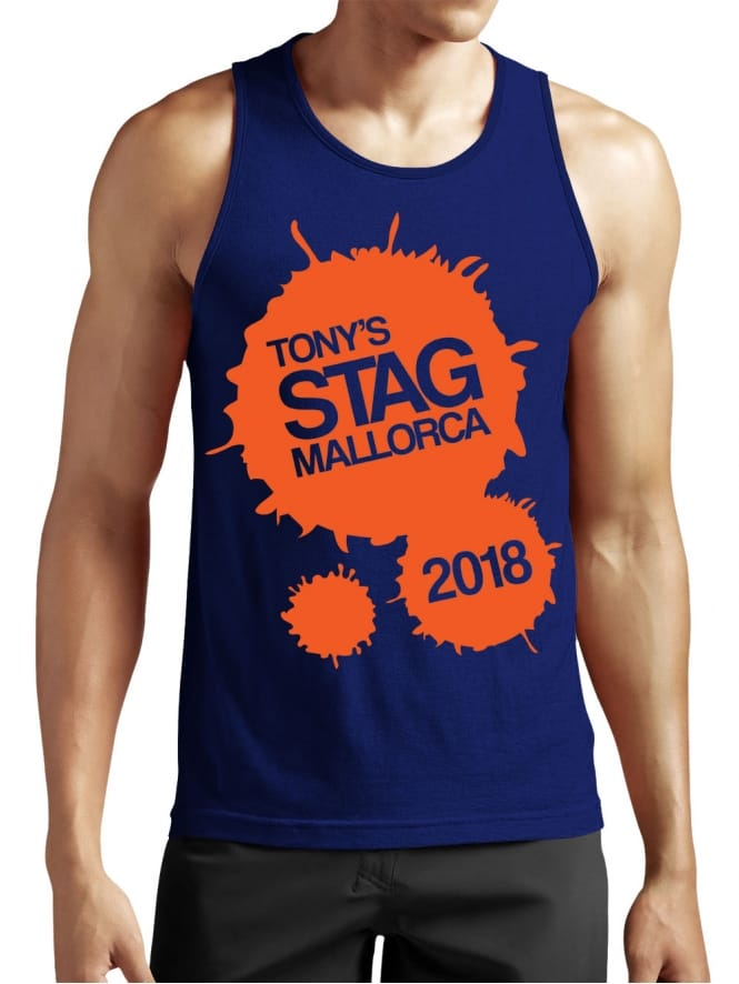 Paint Splash Personalised Stag Party Vest Top