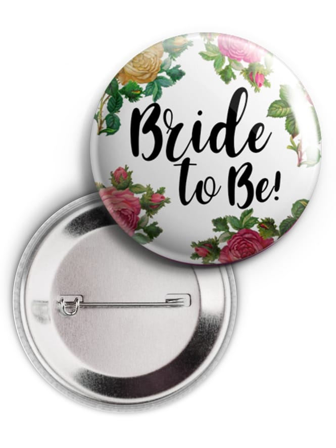 Bride to Be Floral Badge