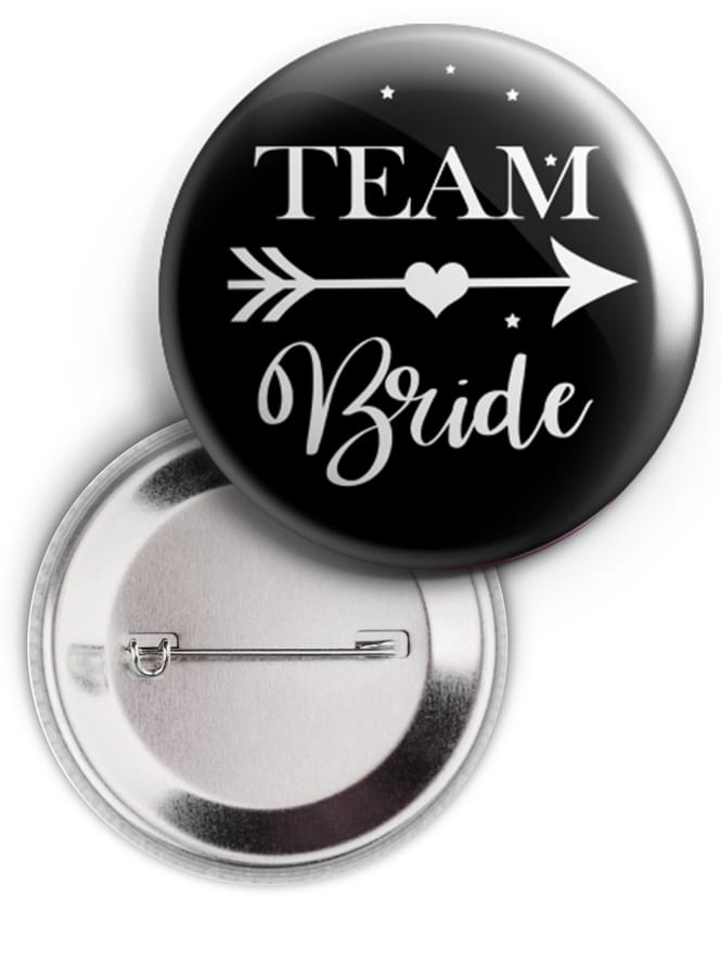 Love Arrow Swirly Team Bride Badge