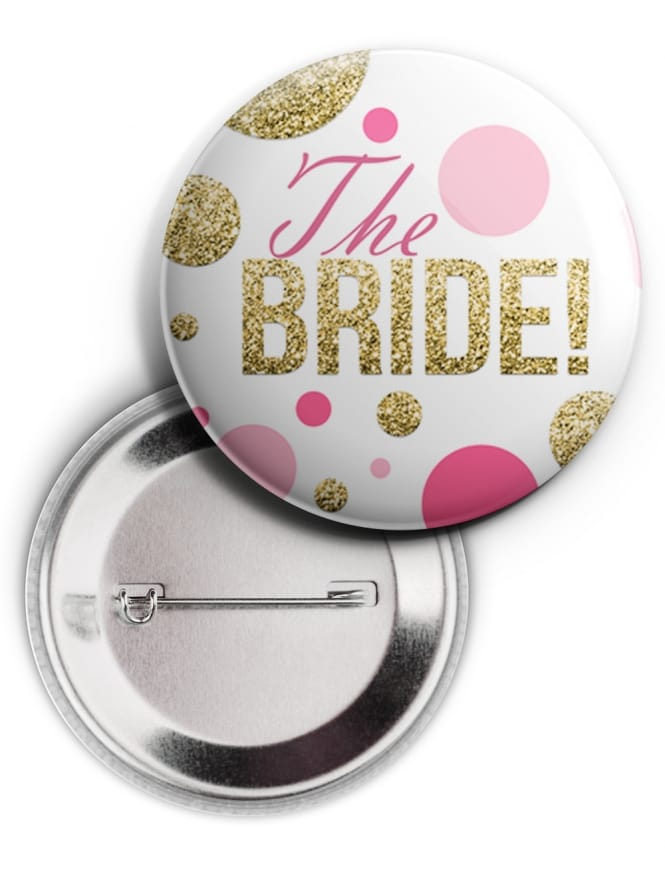 Bubbly The Bride Badge