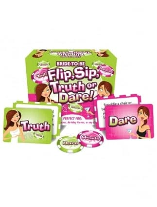 Flip,Sip,Truth or Dare Hen Party Drinking Game