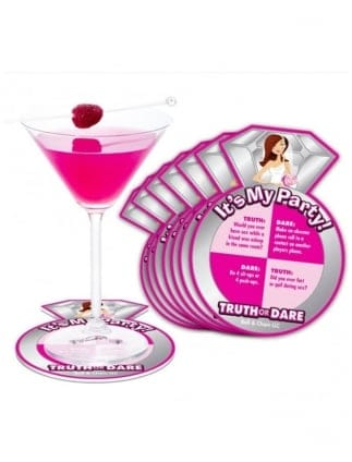 x8 Hen Party Truth Or Dare Drink Coasters