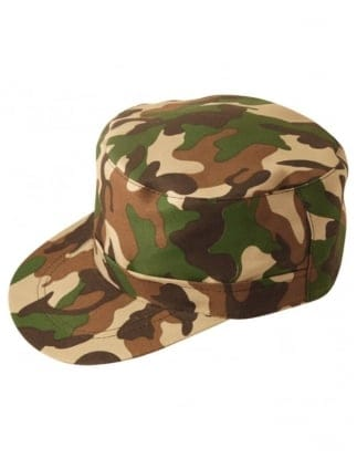 Army Camouflage Fancy Dress Cap/Hat