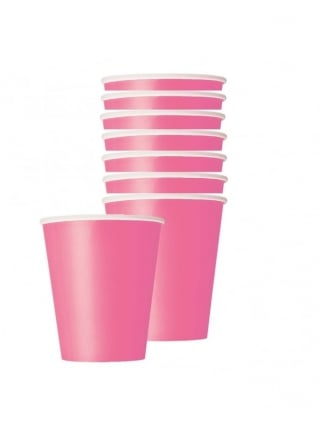X8 Pink Hen Night Party Paper Cups