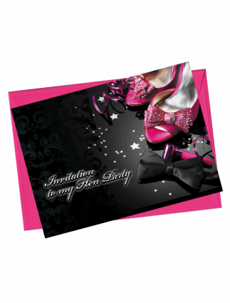 x1 Classy Shoe Hen Night Party Invitation
