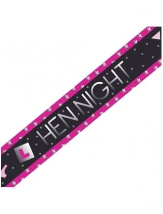 Black / Pink Hen Night Party Banner 9ft