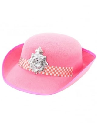 Fancy Dress Pink Police Hat