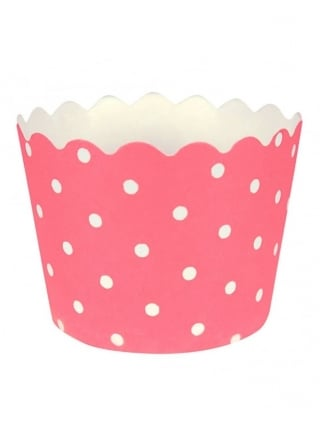 Pink Polka Dot Cup Cases / Baking Cups