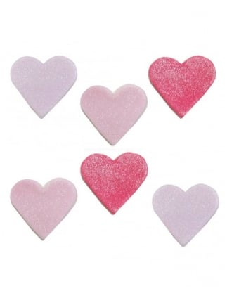 x6 Hen Party Heart Cake Toppers