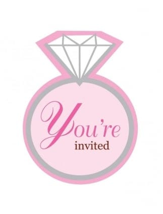 Bride To Be Hen Party Invitations, Hen Night Invites Bling Ring