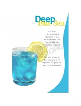 Deep Blue Sea Hen Party Cocktail