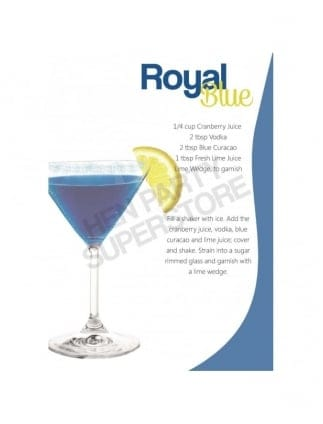 Royal Blue Hen Party Cocktail