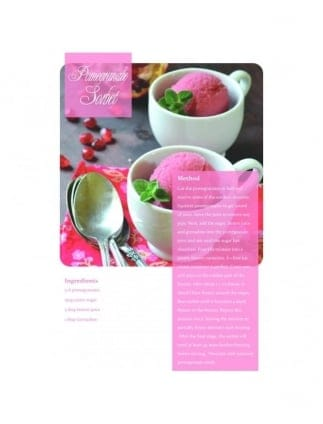 Pomegranate Sorbet Hen Party Food Recipe