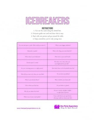Icebreakers Free Hen Party Game