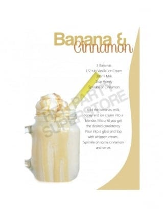 Banana & Cinnamon Milkshake Recipe