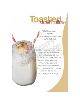 Hen Party Recipe Toasted Marshmallow Milkshake