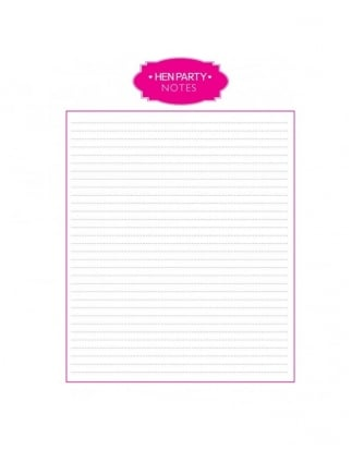 Hen Party Notes Printable /Hen Party Organizing