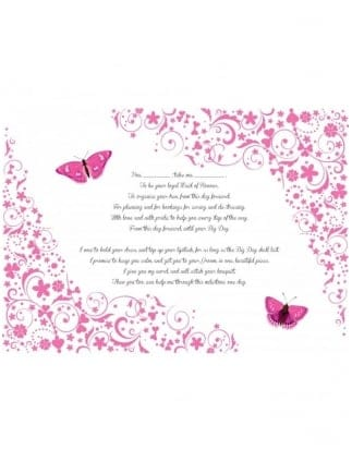 Hen Party Poem - Maid of Honour Vows