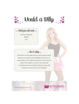 Free Mould A Willy Hen Party Game