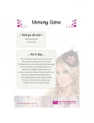 Free Hen Party Memory Game