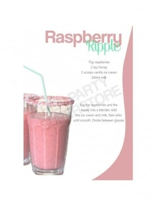 Hen Party Raspberry Ripple Milkshake Recipe