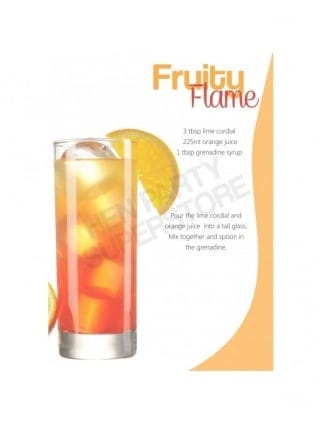 Hen Party Fruity Flame Mocktail Recipe