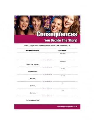 Consequences Free Hen Party Game