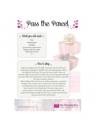 Pass The Parcel Free Hen Party Game