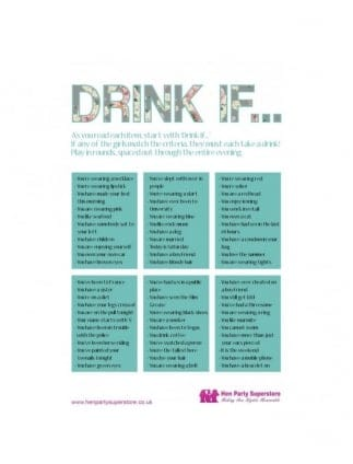 Drink If... Free Hen Party Game
