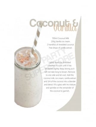Coconut and Vanilla Milkshake