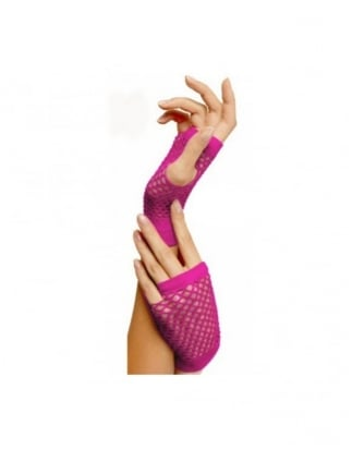 Short Fishnet Gloves 7 Neon Colours