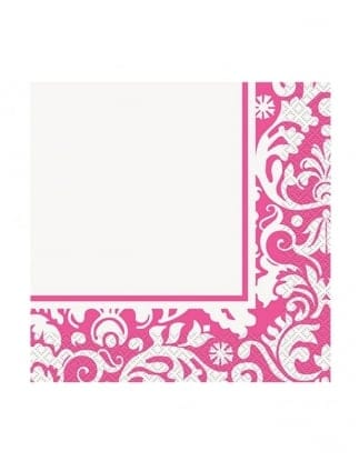 X16 Damask Hen Night Napkins Hen Party Tableware