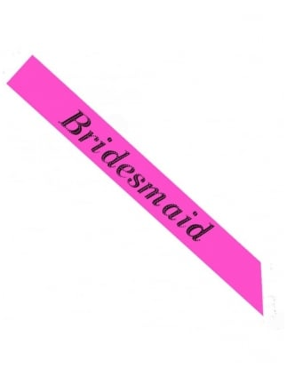 Value Range Bridesmaid Hen Party Sash Pink