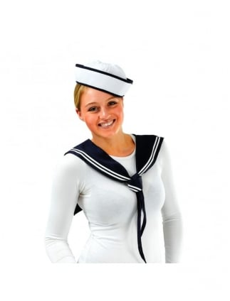 Fancy Dress Sailor Girl Set / Kit Hat And Scarf