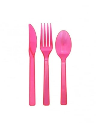 x51 Hen Night Party Pink Cutlery Set