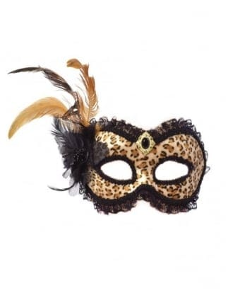 Fancy Dress Leopard Print Eye Mask