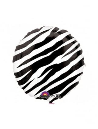 Zebra Print Hen Night Foil Balloon