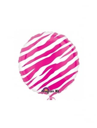 Pink Zebra Print Hen Night Foil Balloon