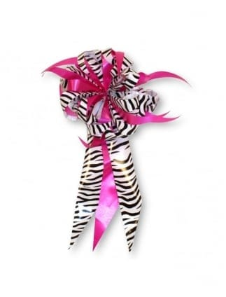 Large Pink And Zebra Print Gift Bow