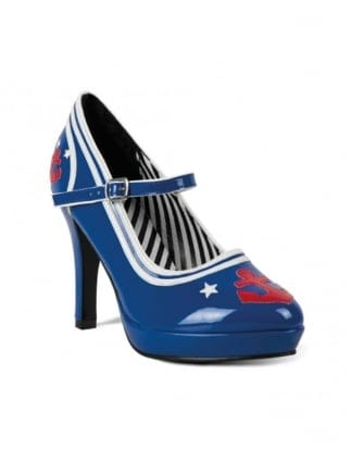 Fancy Dress All Blue Ladies Sailor Girl Shoes